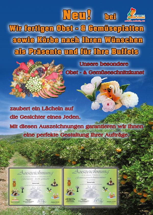 Fertigung von Obstplatten, Sima Frucht,Hohenstein-Ernstthal